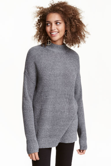 Pullover a lupetto - Grigio scuro - DONNA | H&M IT 1
