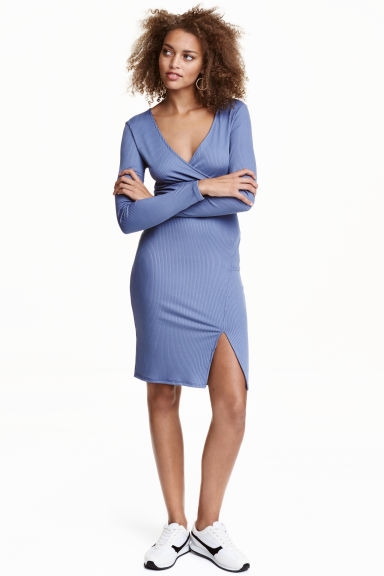 Abito a coste - Blu tortora - DONNA | H&M IT 1