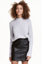Rib-knit jumper - Grey marl - Ladies | H&M CN 1