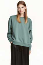 Sweatshirt - Green - Ladies | H&M CN 1