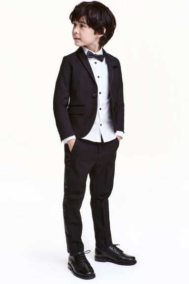 Suit trousers with stripes - Black - Kids | H&M CN 1