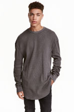 Waffle top - Dark brown - Men | H&M CN 1