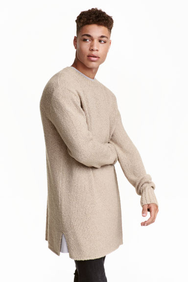Knitted jumper - Beige - Men | H&M CN 1