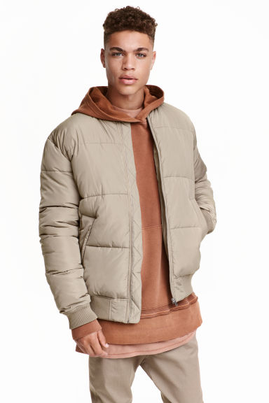 Quilted bomber jacket - null - Men | H&M CN 1