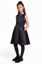 Satin dress - Black - Kids | H&M CN 1