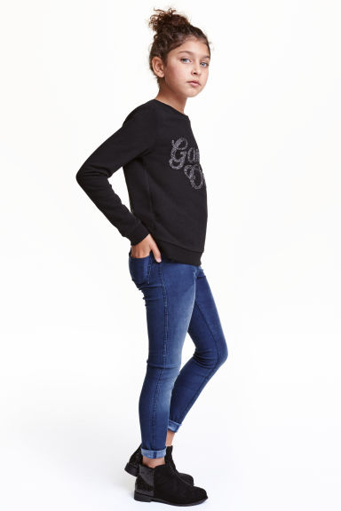 Treggings - Dark denim blue - Kids | H&M CN 1