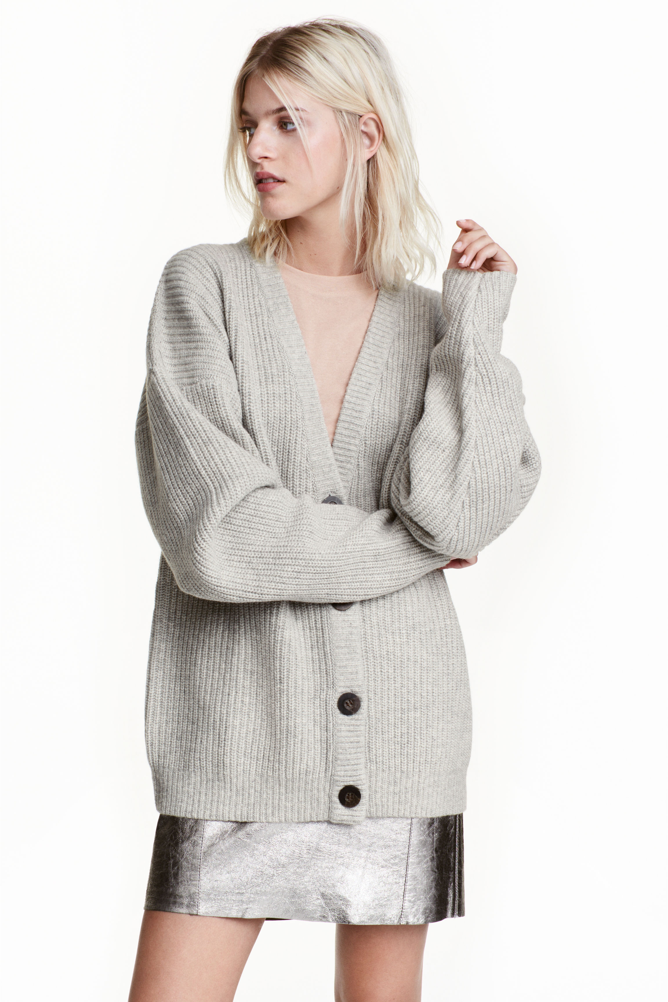 Knitted wool cardigan - Black - Ladies | H&M GB