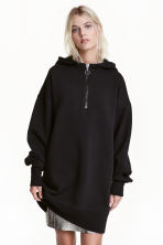 Oversized hooded top - Black - Ladies | H&M CN 1