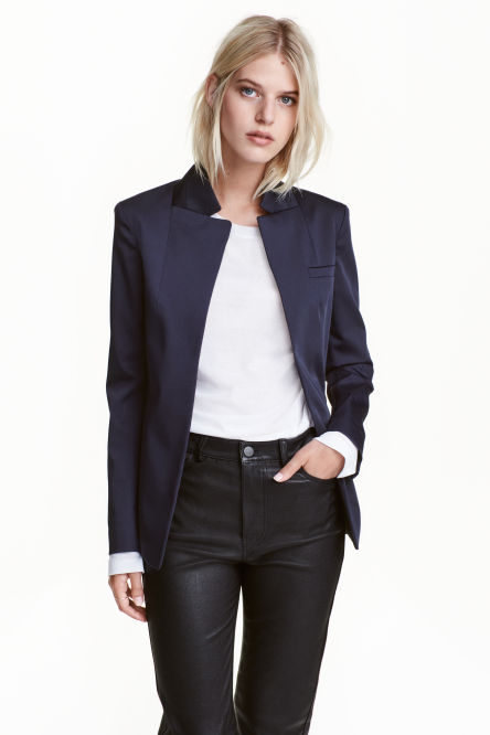 Jacket with a stand-up collar