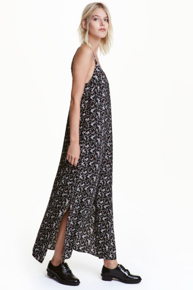 Patterned maxi dress - Black/Patterned -  | H&M CN