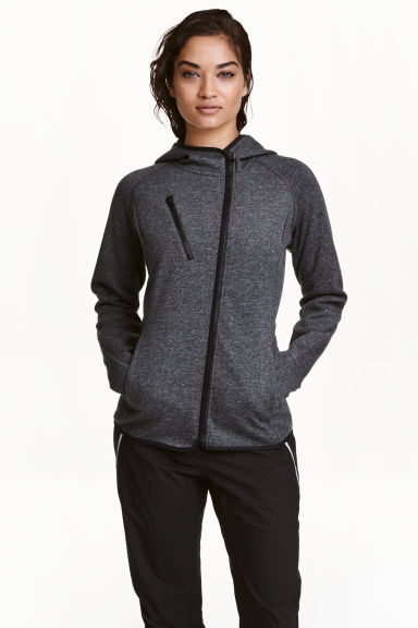 Outdoor jacket - Dark grey marl - Ladies | H&M CN 1
