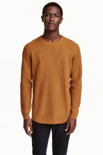Wool-blend jumper - Camel - Men | H&M CN 1