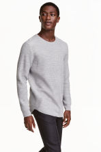 Wool-blend jumper - Light grey - Men | H&M CN 1
