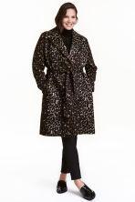 H&M+ Patterned coat - Leopard print - Ladies | H&M CN 1