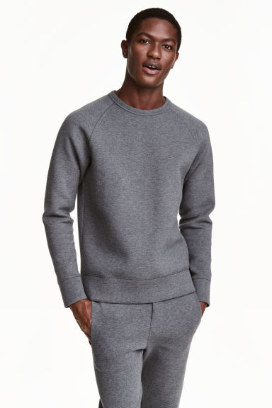 Scuba jersey sweatshirt - Dark grey marl - Men | H&M CN