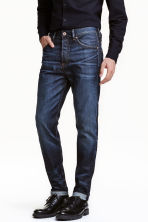 Tapered Low Jeans - Dark denim blue - Men | H&M CN 1