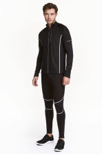 Winter running tights - Black - Men | H&M CN 1