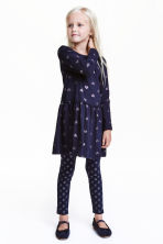 Jersey dress - Dark blue/Heart - Kids | H&M CN 1