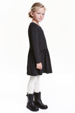 Jersey dress - Black/Patterned - Kids | H&M CN 1