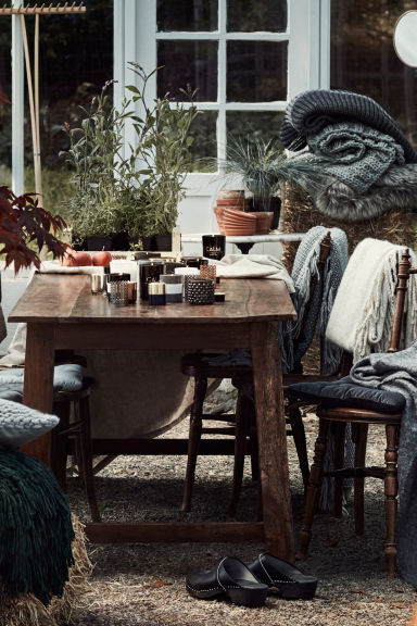 Chunky-knit blanket - Grey - Home All | H&M 1