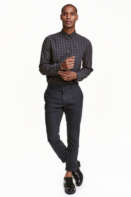Cropped suit trousers