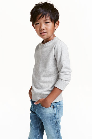 運動衫 - Light grey marl - Kids | H&M 1