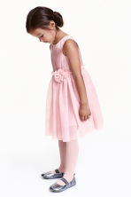 Glittery tulle dress - Light pink - Kids | H&M CN 1
