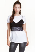Lace bustier - Black - Ladies | H&M CN 1