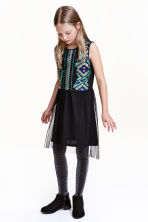 Sequined dress - Black/Turquoise - Kids | H&M CN 1