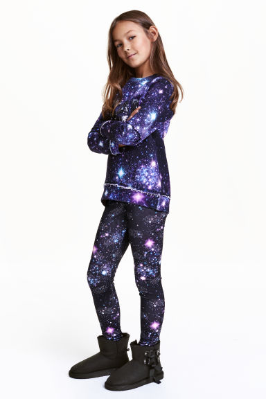 Patterned leggings - Black/Star Wars - Kids | H&M CN 1