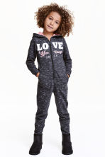Printed jumpsuit - Black marl - Kids | H&M CN 1