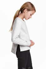 Sweatshirt - Light grey marl - Kids | H&M CN 1