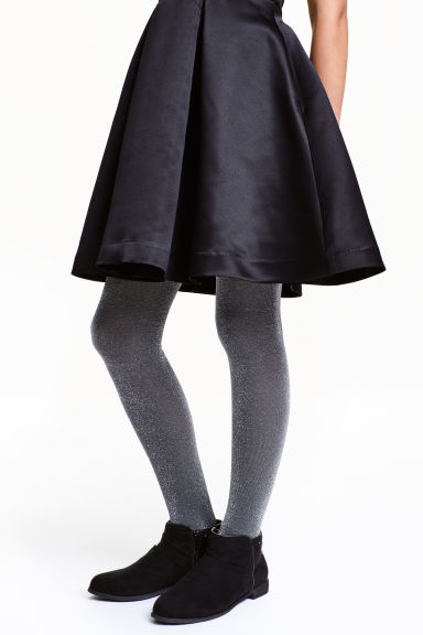 Glittery tights - Dark grey - Kids | H&M CN 1