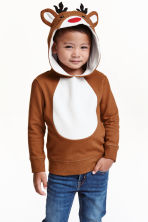 Christmas sweatshirt - Brown/Reindeer - Kids | H&M CN 1