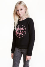 Printed sweatshirt - Black - Kids | H&M CN 1