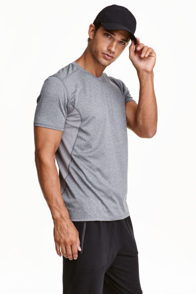 Sports top - Grey marl - Men | H&M CN 1