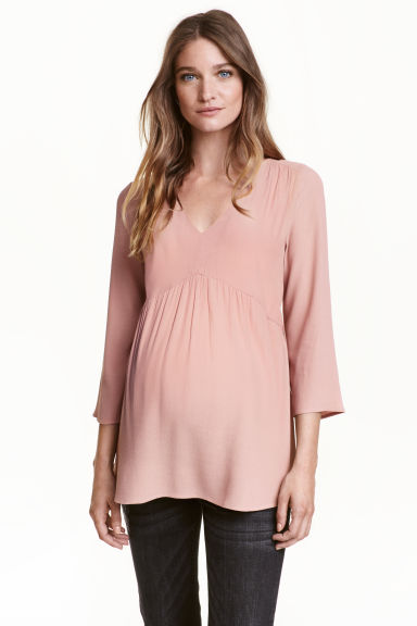 MAMA Crêpe tunic - Powder pink - Ladies | H&M CN 1