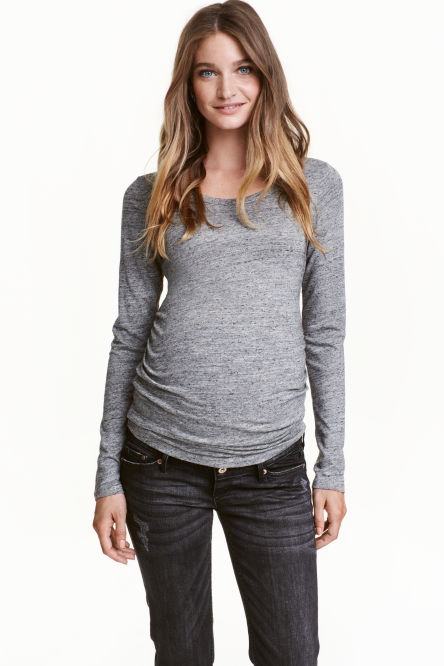 MAMA Long-sleeved jersey top