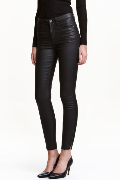 Skinny High Ankle Jeans - Black - Ladies | H&M CN 1