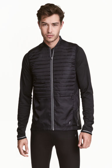 Running gilet - Black - Men | H&M CN 1