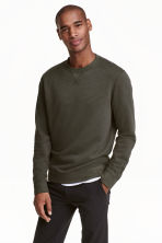 Sweatshirt - Khaki green - Men | H&M CN 1