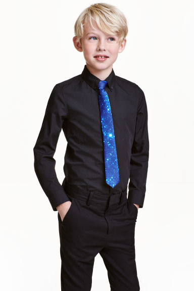 Shirt with tie/bow tie - Black - Kids | H&M CN 1