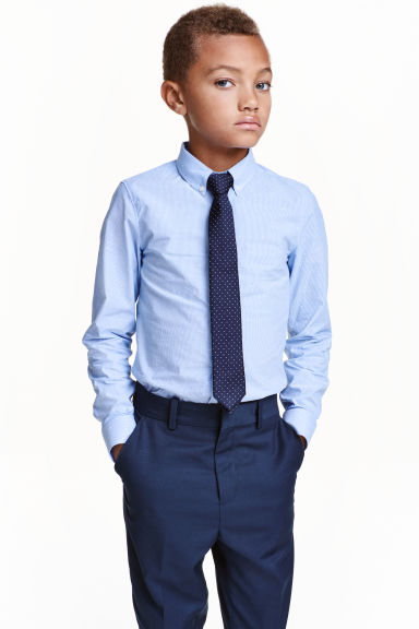 Shirt with tie/bow tie - Blue/Striped - Kids | H&M CN 1