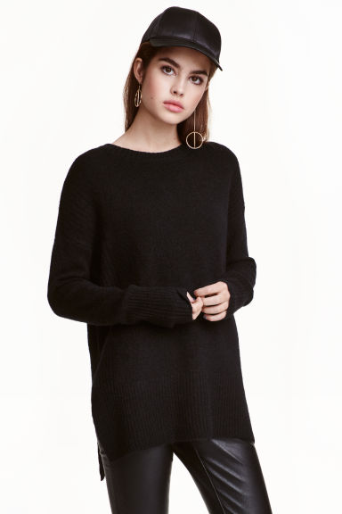 Oversized jumper - Black - Ladies | H&M CA 1