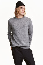 Wool-blend jumper - Grey marl - Men | H&M CN 1