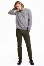 Chinos Slim fit - Dark khaki green - Men | H&M CN 1