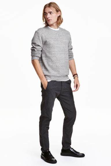 Flannel trousers Skinny fit - Dark grey - Men | H&M CN 1