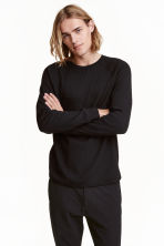 Top with raglan sleeves - Black - Men | H&M CN 1