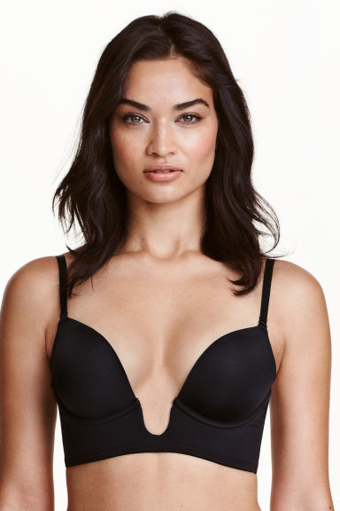 Microfibre push-up bra - Black - Ladies | H&M CN 1