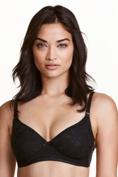 MAMA Nursing bra in lace - Black - Ladies | H&M CN 1